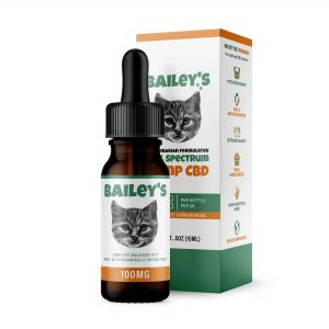 Bailey's 100MG Full Spectrum CBD Oil For Cats