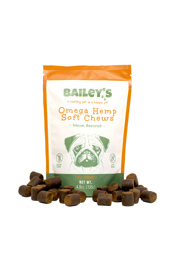 Bailey's Omega Hemp Soft Chews - 30 Count Bag